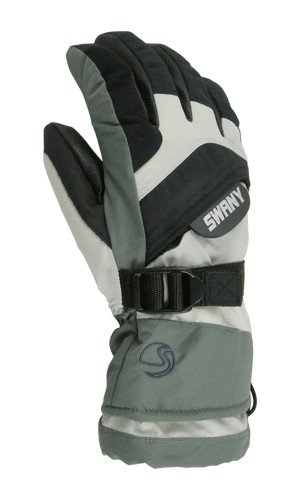 SWANY OVER II GLOVE - KIDS - L - MED GREY / LG GREY by SWANY