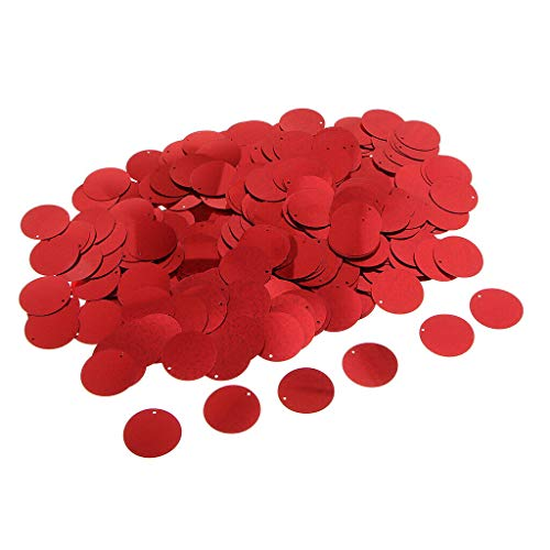 - MOPOLIS 100g 30mm Round Shaped Loose Sequin Paillettes Sewing Craft DIY Accessories | Color - Red