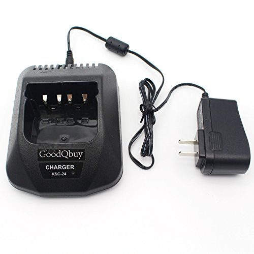 GoodQbuy® KSC-24 Charger for KENWOOD batteries KNB14 KNB15 KNB16 KNB17A KNB17B KNB20N KNB21N KNB22N by GoodQbuy