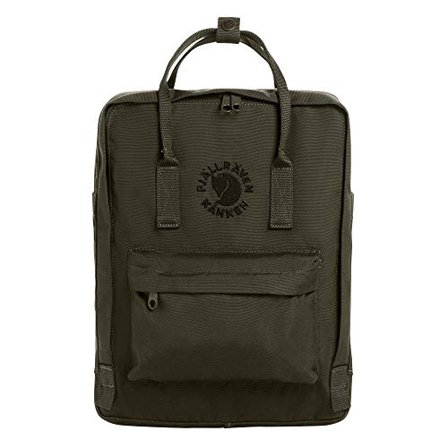 Fjallraven - Re-Kanken Recycled and Recyclable Kanken Backpack for Everyday, Dark Olive