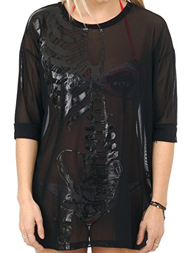 Iron Fist Clothing - Wishbone Mesh Cover Up L / Black