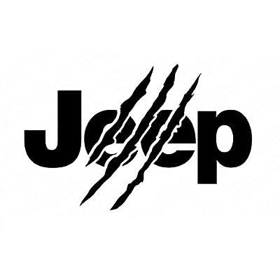 CCI Jeep Jurassic Park Decal Vinyl Sticker Cars Trucks Vans Walls Laptop Black  7.5 x 4.75 in CCI1726: Automotive
