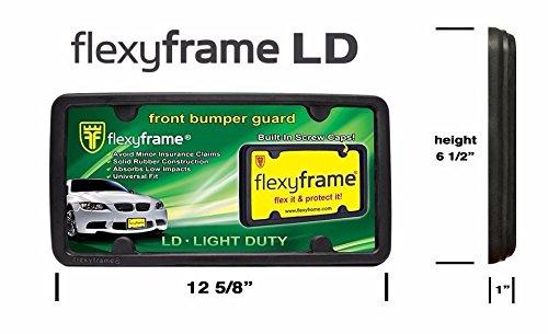 A NASA-like Rubber Front License Plate Bracket Frame Tag Holder Guard Bumper for JAGUAR by Flexyframe