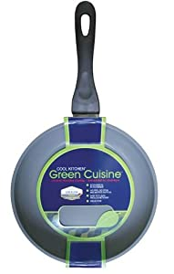 Strauss Green Cuisine 9.5 Inch Skillet with Non Stick Ceramic Coating