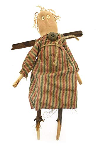 Primitive Folk Art Hand Made Angel Doll Twig Wings Arms Feet One of A Kind 12.5