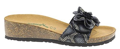 Bionatura - Sandalias de vestir de Piel para mujer Negro negro 38 Serpente Nero
