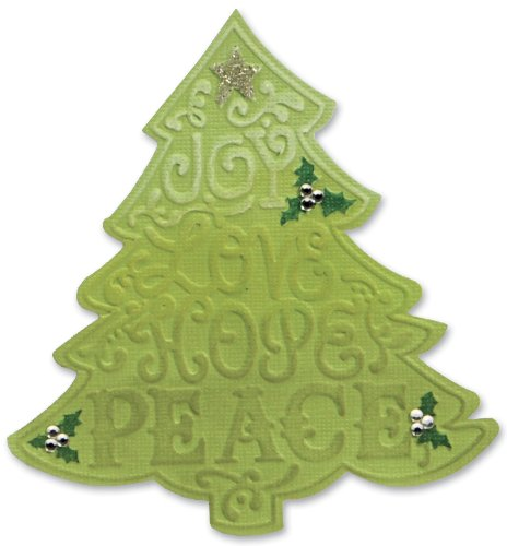 Sizzix Bigz Die with Bonus Textured Impressions - Tree, Christmas #2 by Beth Reames Christmas Embossed Holly