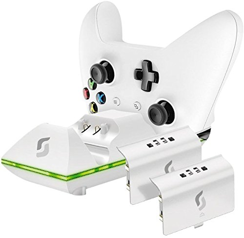 Price comparison product image Sliq Gaming Xbox One Dual Controller Charge Station & Battery Pack