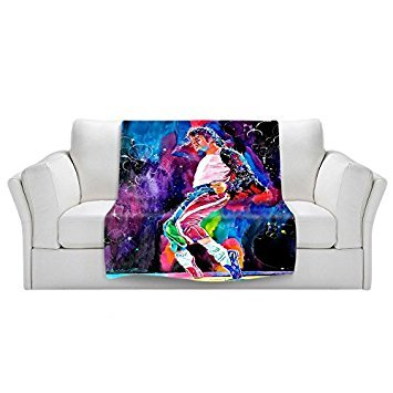 DiaNoche Fleece Blankets Soft Fuzzy 4 Sizes! by David Lloyd Glover - Michael Jackson - Medium 60