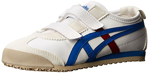 Onitsuka Tiger Mexico 66 Baja PS Classic Running Shoe (Toddler/Little Kid), White/Royal Blue, 1 M US Little Kid