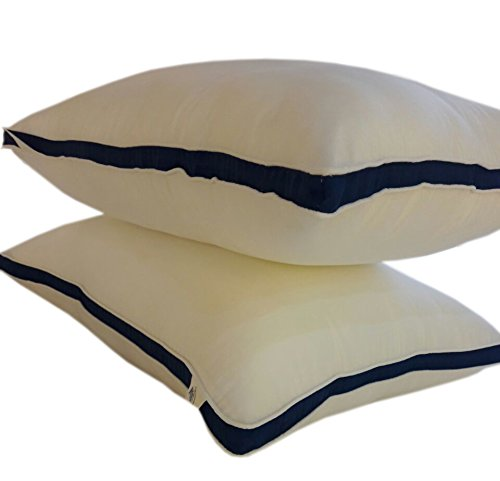 Gusseted Standard Firm Bounce Back Pillows Pair Premium Super Soft Extra Plush Hotel Quality Virgin Hollow Fiber Filled Retain Shape Down Alternative Dust Mite Resistant Hypoallergenic