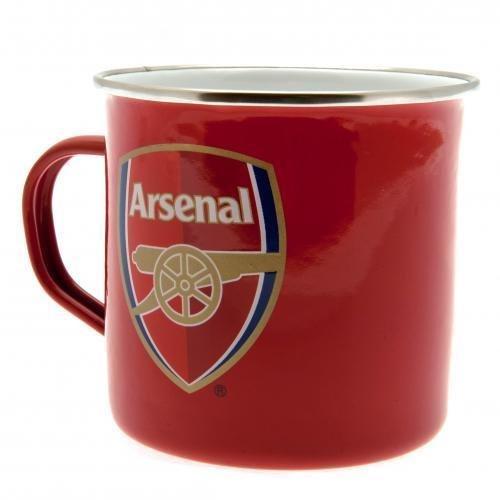 Genuine Arsenal FC Football Club Tin Mug Cup Present Gift Birthday Souvenir Other