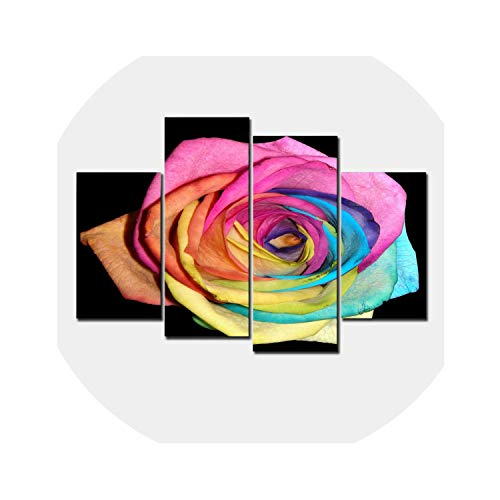 three thousand Modern Wall Art Home Decoration Printed Oil Painting Pictures Hd Canvas Prints Abstract Colorful Rose Living Room Decor,30X40 30X60 30X80Cm,No Framed