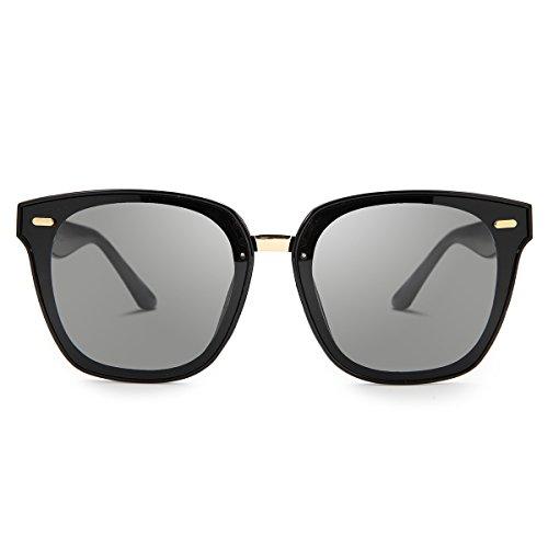 unisexes vintage Noir rétro Lunettes Femme soleil Homme and couleurs pour Miroir les de qtt7nUA0