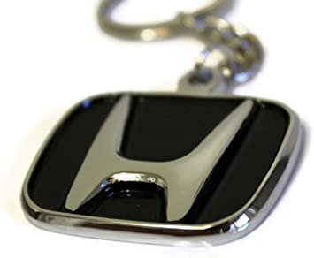 Wang Honda Logo Llavero Espejo Cromado metal auténtico llavero Lanyard Civic Accord