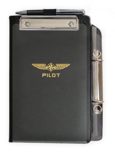 DESIGN 4 PILOTS brand professional Aviation Kneeboard, made out of genuine eco-friendly leather, flight kneeboard, pilot kneeboard (Ultimate Helicopter Pilot)