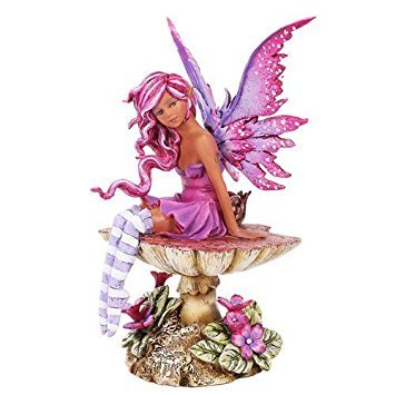 Amy Brown Licensed Magenta Fairy Statue Polyresin Figurine Home Decor