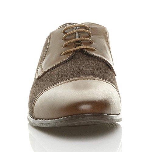 Shoes Contrast Brown Pointed Tweed Mens Oxford Size Ajvani Ajvani Mens wF0gpp