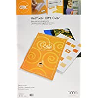 GBC Laminating Pouches/Sheets, Thermal, Menu Size, 5 mil  , Heat Seal Ultra Clear, 100 per Box (3200418)