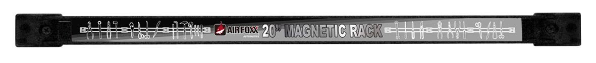 Air Foxx AFZ-MAG0091 Heavy Duty Wall Mount Magnetic Tool Rack, 20-Inch