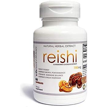 Reishi Mushroom Capsules | 700 mg | 35% Lingzhi Extract | 30 Day Supply