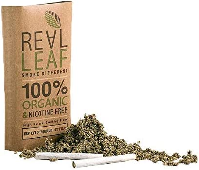 Real Leaf Organic Herbal Natural Smoking Mixture 30g 100% Nicotine Tobacco Free