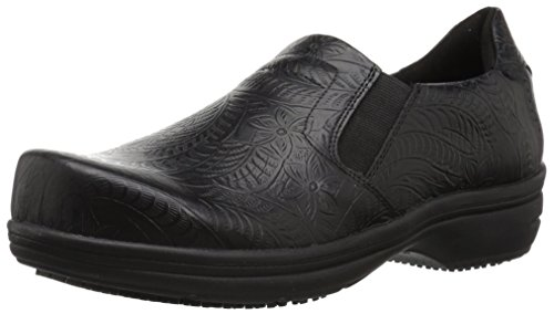 Easy Works Women's Bind Health Care Professional Shoe, Black Embossed, 9 M US by Easy Works