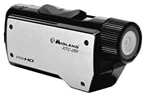 Midland XTC280VP1080p HD Wearable Action Camera with Image Stabilization, Submersible Case and Universal Mount (Black/Silver)