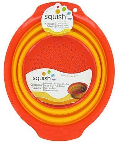 Silicone Colander Collapsible Strainer 4 Qt. Dishwasher Safe