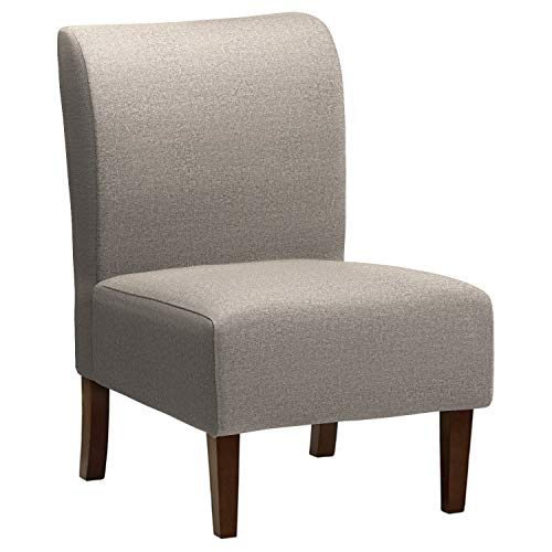 Stone & Beam Lummi Modern Armless Living Room Accent Chair, 21.6″ W, Storm Grey