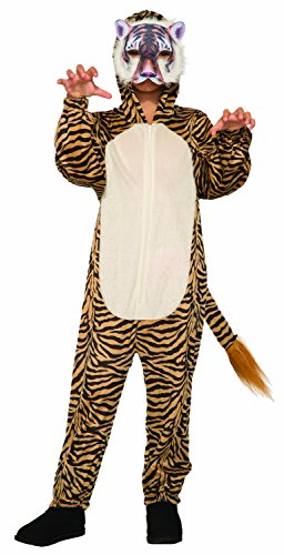 Forum Novelties Unisex-Children Tiger Jumpsuit and Mask Child's Costume, Multi-Color, Medium
