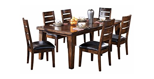 'Ashley Furniture Signature Design - Larchmont Dining Room Table - Old World Style - Burnished Dark Brown' from the web at 'https://images-na.ssl-images-amazon.com/images/I/41BbNhgS-9L.jpg'