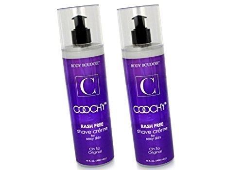 - Coochy Water Based Shave Cream Skin Protection OH SO ORIGINAL (Safe for All Body Parts Including Face and Intimate Areas) - Size 16 Oz (Pack of 2)
