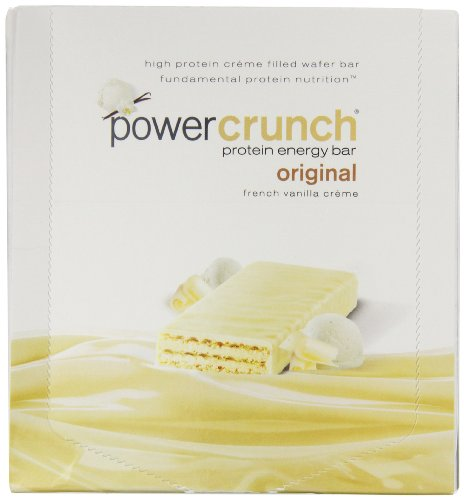 Power Crunch Energy Bar, French Vanilla, 72 Count by Power Crunch
