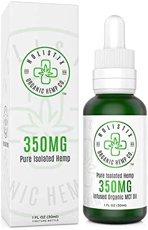 Organic Hemp Oil Extract, 350mg – Pain and Stress Relief, Anti Inflammatory, Anxiety and Sleep Daily Herbal Supplement –Infused with Natural MCT Oil, Rich in Omega-3 Fatty Acids – 30ml Dropper