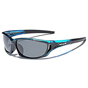 Polarized X-Loop Sport Fishing Golf Driving Outdoor Sunglasses - Blue
