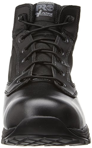 Timberland Pro Mens 5 Valor Soft-Toe Waterproof Duty Boot Black Smooth With Textile