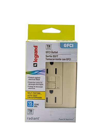 Legrand-Pass & Seymour 1597TRICC4 Self-Test GFCI Receptacle Outlet with Wall Plate, 15Amp 125V, Ivory by Pass & Seymour (Image #5)