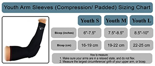 d7903e38f41 Arm Sleeves for Kids (1 Pair - Pink S) Compression - Boys