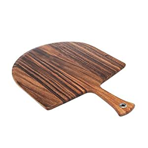 Premium Strong Durable Pizza Peel Board 20x14 Inch Handle Paddle Bar Restaurant Kitchen Acacia Wood Wooden Lifter New Oven Spatula Style Dough Update bartender chef gift