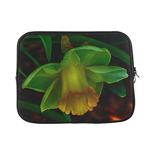 - Design Custom Green Daffodil Narcissus Jonquil Spring Flowers Sleeve Soft Laptop Case Bag Pouch Skin for MacBook Air 11