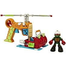 Teenage Mutant Ninja Turtles Pre-Cool Half Shell Heroes Drop Copter With Raphael Vehicle and Figure