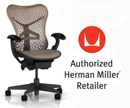 [Herman Miller Mirra Chair Basic Home Office Desk Task Chair Graphite Frame with Cappuccino Triflex Seat and Back Fixed Arms plus Standard Casters] (Herman Miller Mesh Chair)