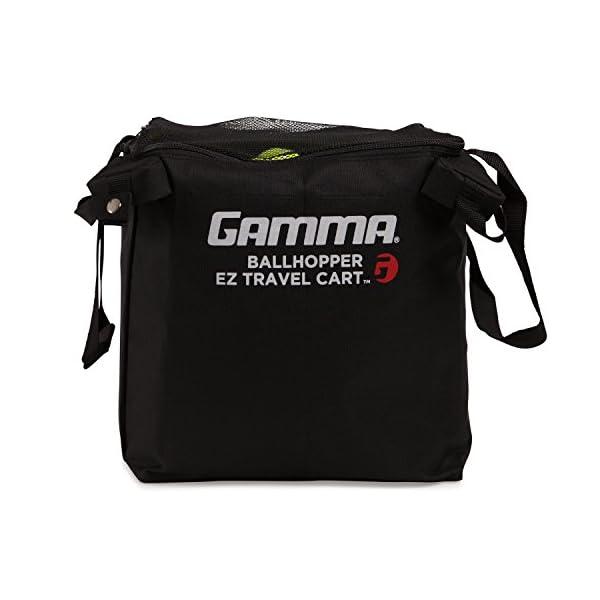 סל כדורי טניס נייד של חברת GAMMA הכולל ידיות נשיאה ואופציה למעמד
