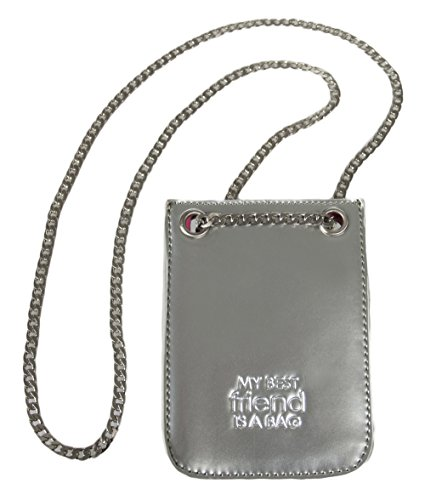 Bag Really Leather (Cell Phone Wallet Pouch Holder Shoulder Bag with Brushed Nickel Chain – Designer Quality Crossbody Purse - Handmade - The Most Stylish Way to Carry Your Mobile Phone - Silver)