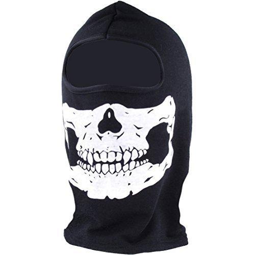 Sturmhaube Totenkopf / Skull-face/ Skelett, schwarz weiss ! Von BAER !