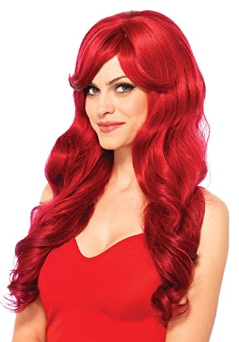 [Leg Avenue Women's Long Wavy Wig, Red, One Size] (Jessica Rabbit Wig)