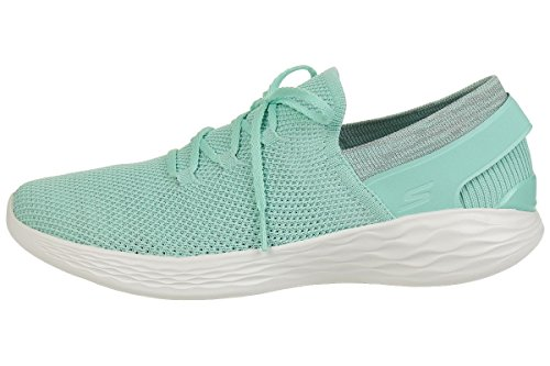 Skechers Damen You-Spirit Slip on Sneaker, Blau (Mint), 41 EU