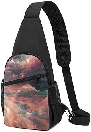 ボディ肩掛け 斜め掛け 銀河 ショルダーバッグ ワンショルダーバッグ メンズ 軽量 大容量 多機能レジャーバックパック