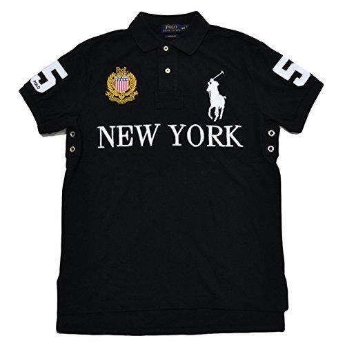 Polo Ralph Lauren Mens Big Pony City Custom Mesh Polo (New York Polo Black, XL) from Polo Ralph Lauren